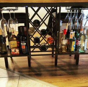 Kitchen island with bar
