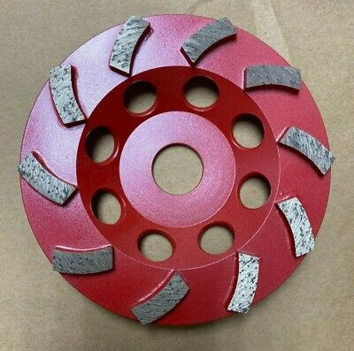 5 Spiral Turbo Diamond Cup Wheel For Concrete Grinding 10 Segs 78-58 Arbor