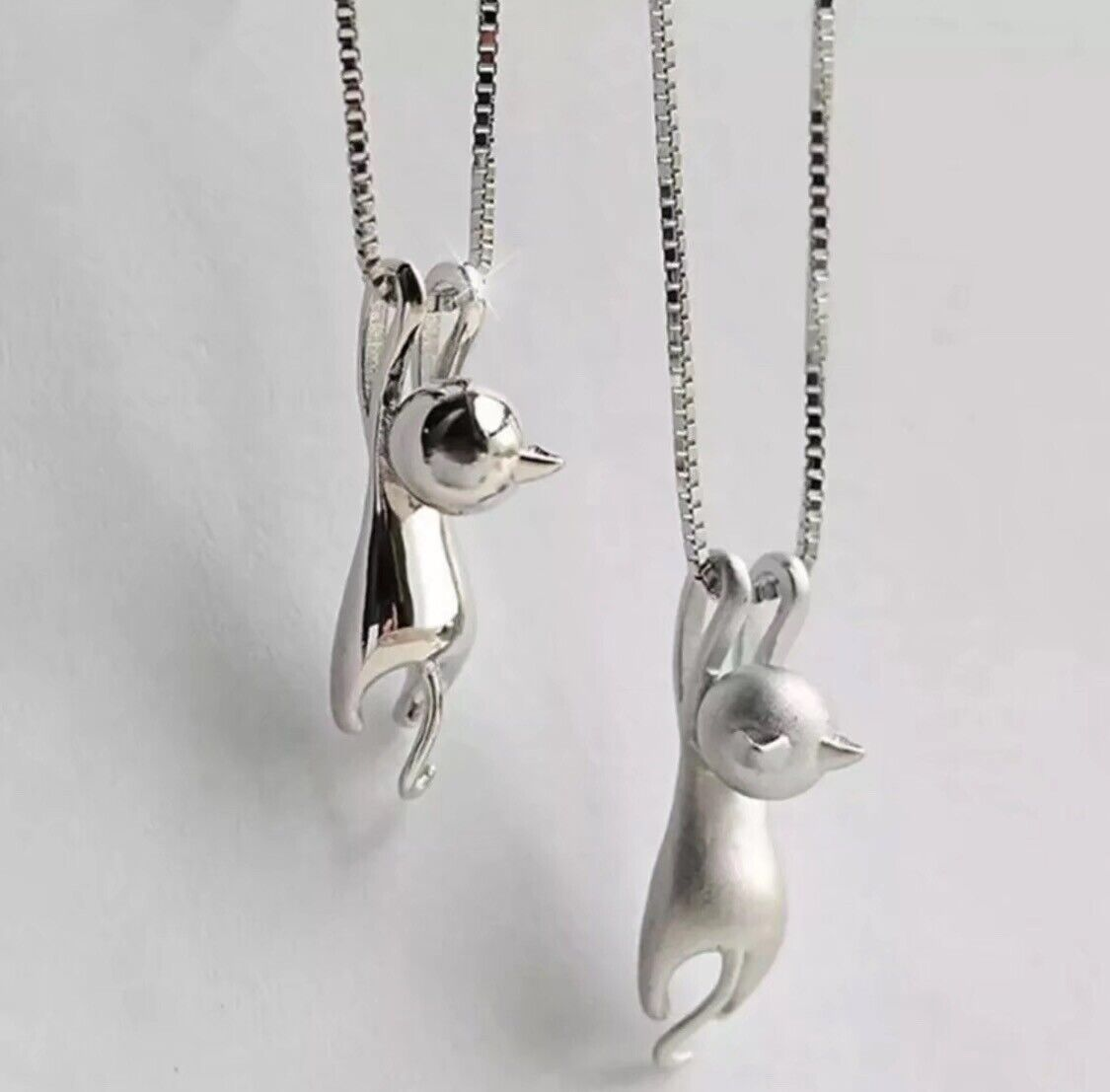 Jewellery - Cat Pendant Chain Necklace 925 Sterling Silver Women's Jewellery Gift New Uk