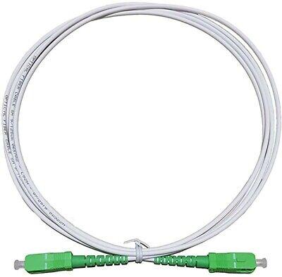 Cable fibra optica SC-APC monomodo simplex 9-125 2 M Blanco