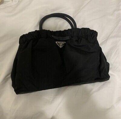 Prada Ruffled Nylon Vintage Handbag Purse 90s 2000s