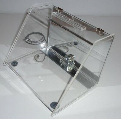 Acrylic Countertop Locking Display Case With Mirror Back 8.75w X 6.5t X 6.25d