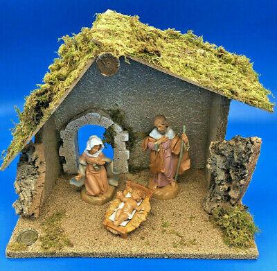"Fontanini by Roman Inc. 3 Piece Starter Nativity Set with Creche 5"" Scale #54710"