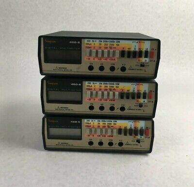 Lot Of 3 Simpson 460-6 Series Digital Multi Meter For Parts Or Repair