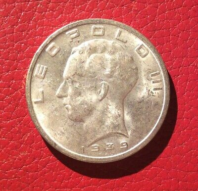 Belgique - Léopold III - Rare 50  Francs 1939 VL - variété point devant oeil