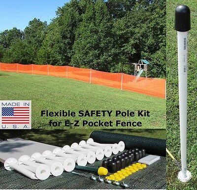 E-Z Pocket Fence 4' T Safety Flexpole Kit Snow Garden Baseball Outfield Fence