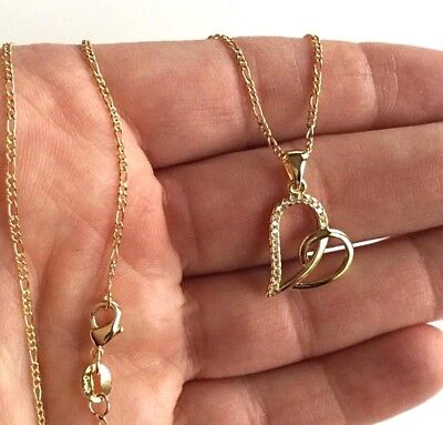 18K GOLD FILLED HEART LOVE NECKLACE 18