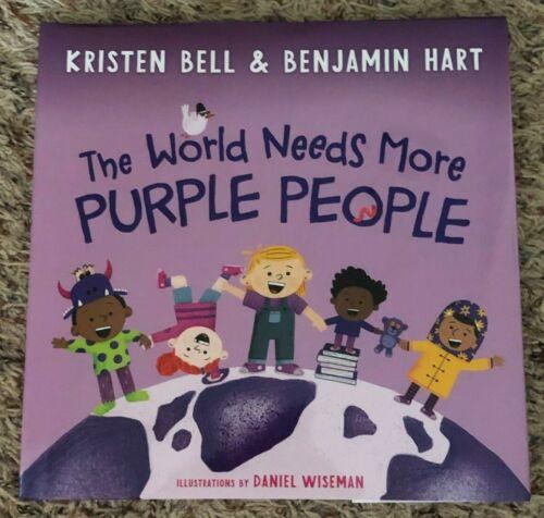 KRISTEN BELL & Benjamin Hart The World Needs More Purple People SIGNED Book  COA