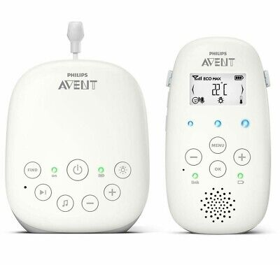 Philips Avent Audio Baby Monitor with Night Light & Lullabies No Interference