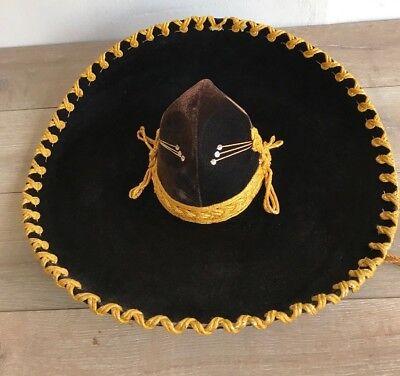 Pigalle Elegante XXXXX Vintage Brown Gold Mexican Mariachi Sombrero Hat 23