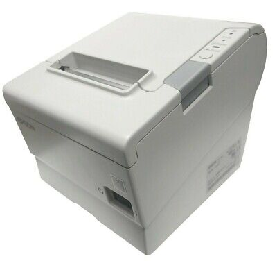 Epson Tm-t88v Pos Thermal Receipt Printer M244a Serial Rs-232 White Usb