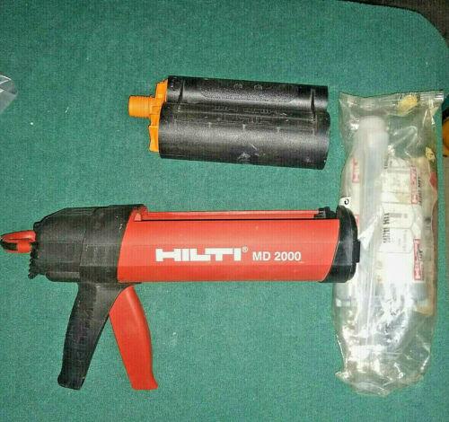 Hilti MD2000 Manual Anchor Adhesive Dispenser Epoxy Gun w/accessories !!