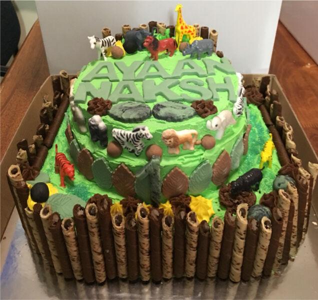 Safari Jungle Themed Cake 1st Birthday Cake Catering Gumtree