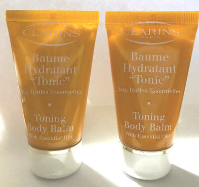 Clarins Toning Body Balm (LOT OF 2 - Clarins Toning Body Balm with Essential Oils 1.7 oz Travel Size New  )