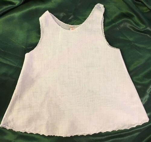 Vintage Fine White Linen Baby Slip Petticoat