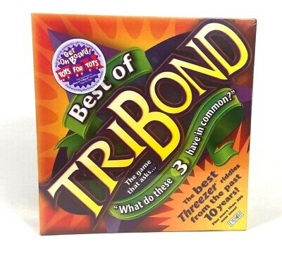 BEST of TRIBOND Board Game Educational Classroom Mattel G6848 NEW Factory (Best Educational Board Games)