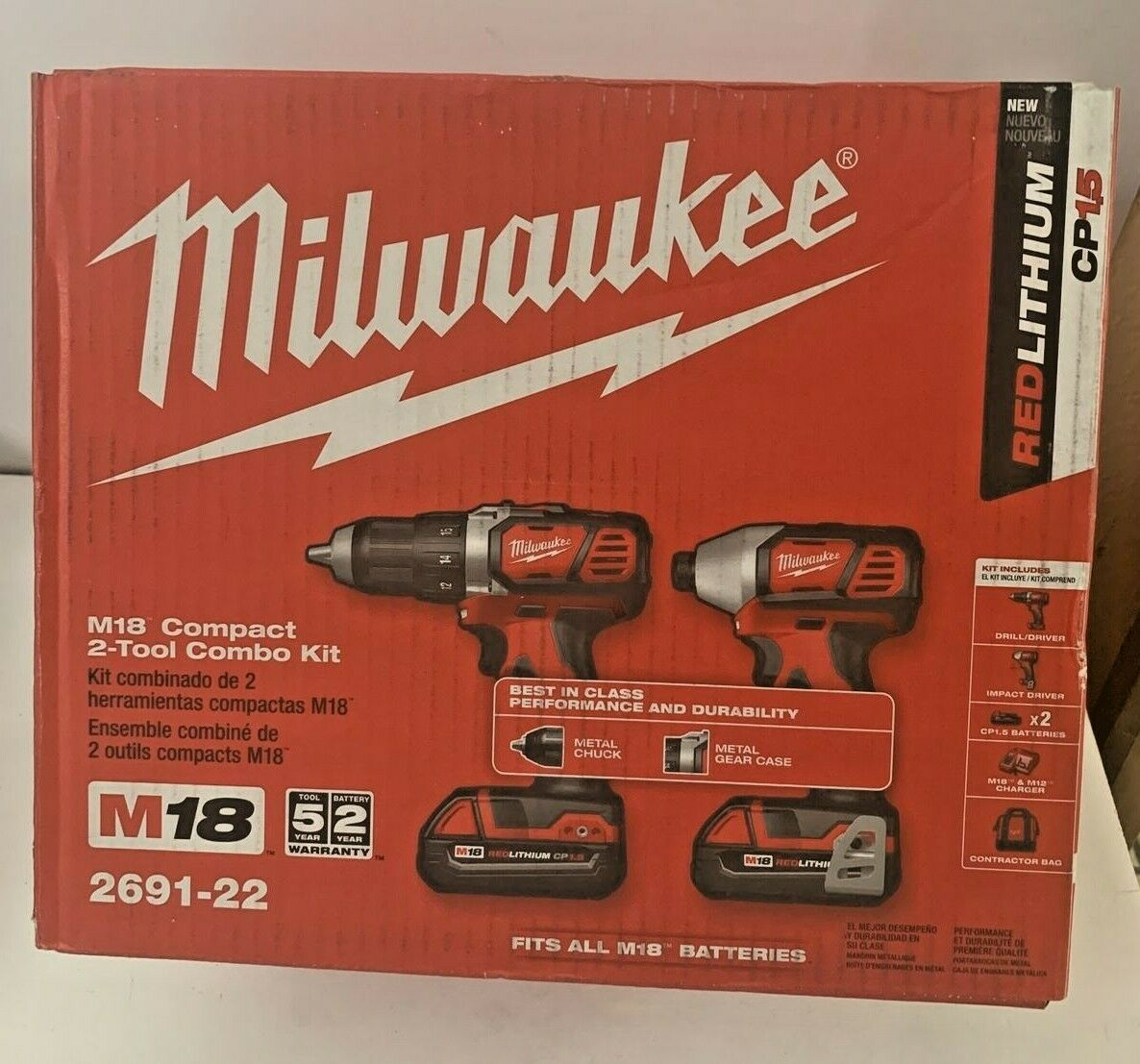 New Milwaukee 2691-22 M18 18-Volt Cordless Power Lithium-Ion