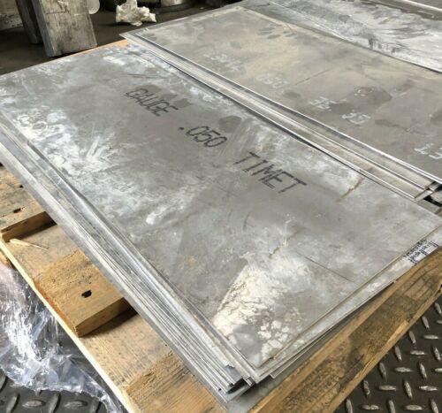"""Titanium 6Al4V Sheet 10"""" x 25"""" x .050"""""""