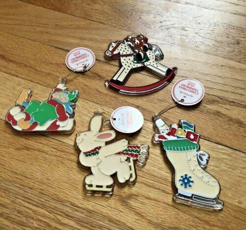 Vintage1981 Hallmark Rabbit CHRISTMAS Ornament New Tree Trimmer Lot 4 Stocking