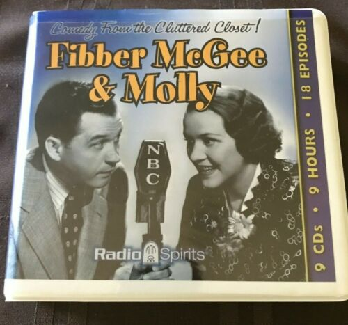 """Fibber McGee & Molly """"Cluttered Closet"""" by Radio Spirits-9 Audio CD"""