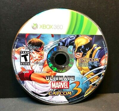 ULTIMATE MARVEL VS. CAPCOM 3 (XBOX 360) DISC ONLY #16801 comprar usado  Enviando para Brazil