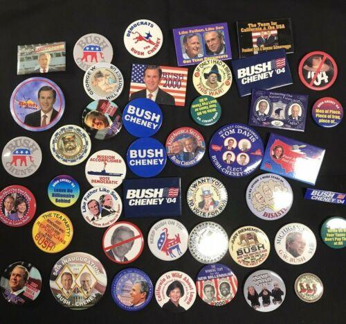 George W Bush Political Campaign Pinback Button Lot of 43pcs JH925