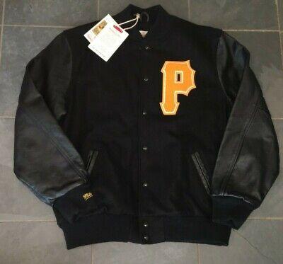 NWT Mitchell & Ness 1955 Pittsburgh Pirates Wool Leather Jacket 44 LARGE $575