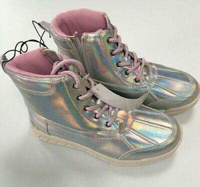 "Girls KHOMBU Boots Shoes ""Unicorn Shimmer"" Silver UK Children Size 2 New Boxed"