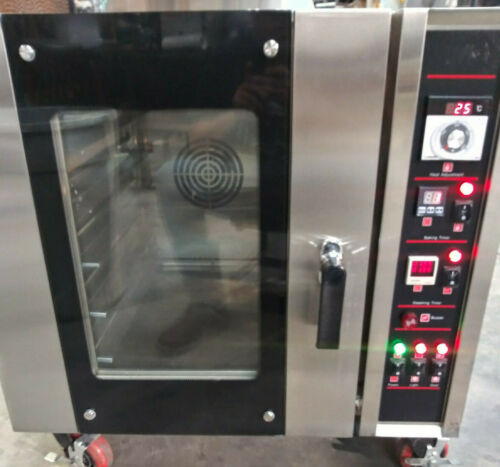 NEW Commercial Gas Convection Oven WITH steamer NSF Restaurant Kitchen Rolling