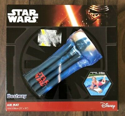 Star Wars Darth Vader Kids Air Mat Pool Lounger Bed Beach Inflatable Bed New