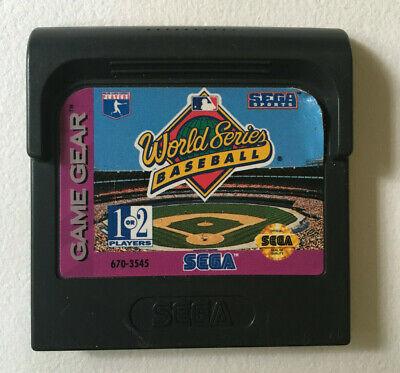 World Series Baseball - Game Cart Only - Tested & Works - Sega Game Gear