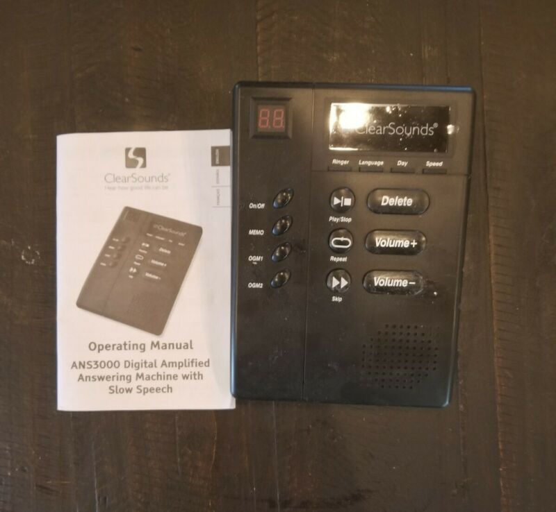 CLEARSOUNDS Answering Machine,ANS3000,