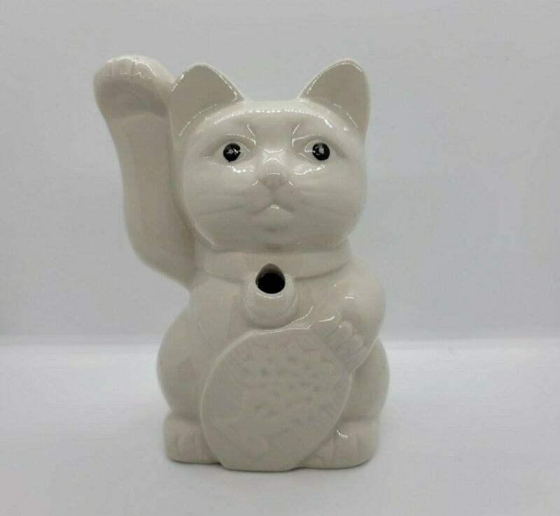 Benihana Maneki Neko Beckoning Tiki Lucky Cat White Mug