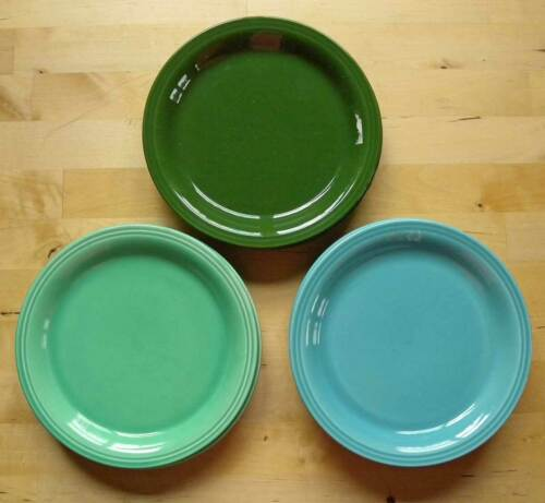 Lot of 10 - Vintage Homer Laughlin CARNIVAL Bread Plates 6.75 in 3 colors Fiesta