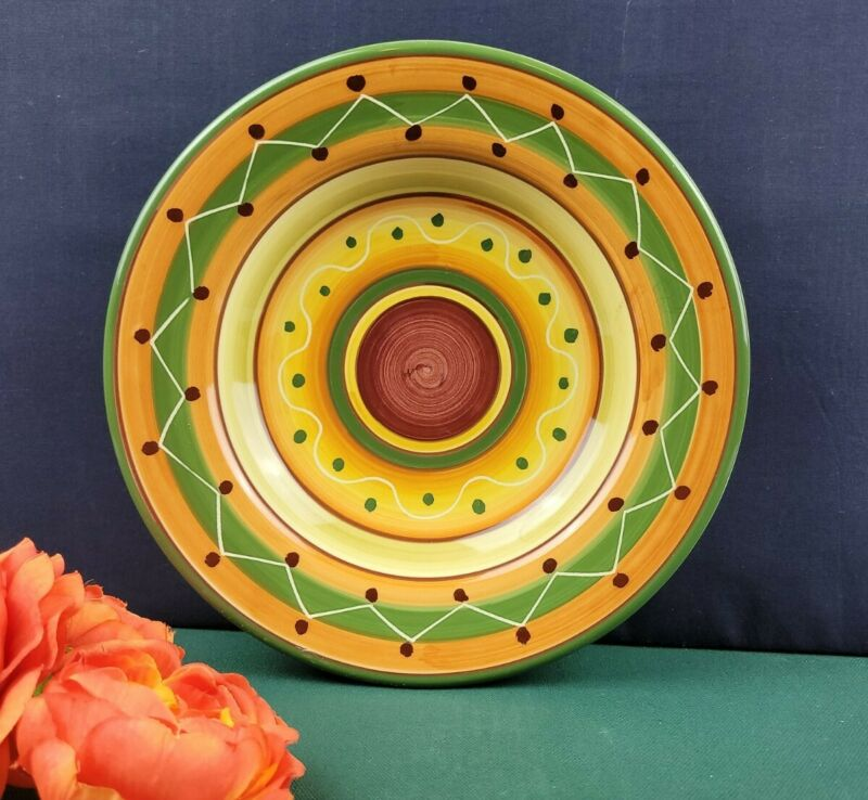Pier 1 Imports - Yellow Etrusco Hand Painted Pasta Plate