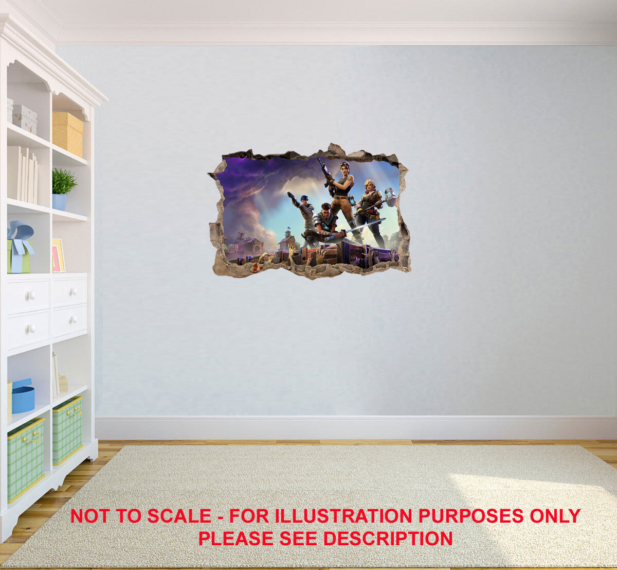 Home Decoration - FORTNITE POSTER KIDS WALL STICKER DECAL DOOR BOY GIRL NURSERY CHILDRENS