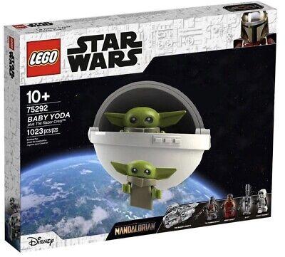 BABY YODA w CRIB & FREE IG-11 Nurse Droid Mandalorian Star Wars Lego Razor Crest