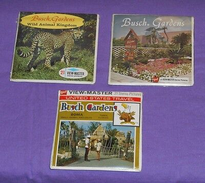 BUSCH GARDENS VIEW-MASTER REELS LOT x3 sets new/sealed Boma Wild Animal Kingdom