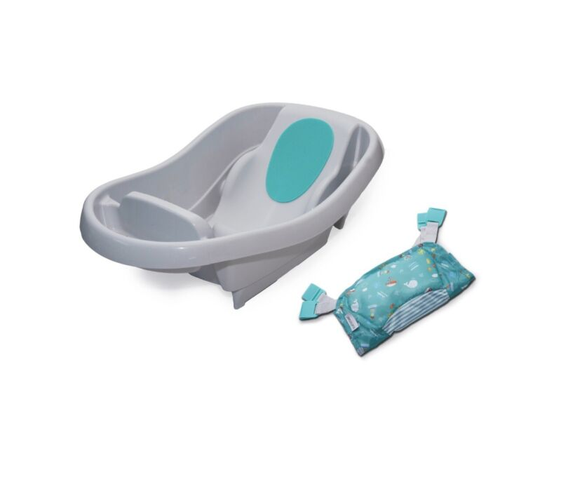 Summer Comfy Clean Deluxe Newborn to Toddler Tub (Gray)