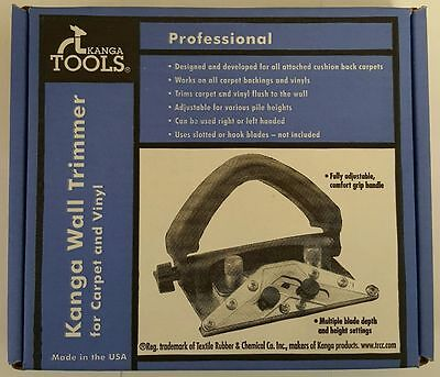 Kanga Tools Professional Carpet And Vinyl Wall Trimmer Cutter New In Box
