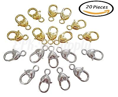 Lobster Shape (20 pieces Heart Shape Lobster Claw Clasps DIY Jewelry Findings)