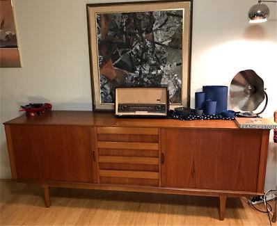 Danish Office Credenza : Custom file cabinet credenza modern mid century