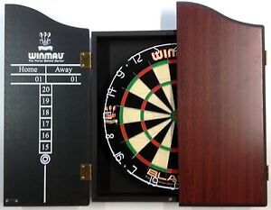 Professional Level Winmau Blade 4 Dart board SET With Rosewood Cabinet 6x Darts
