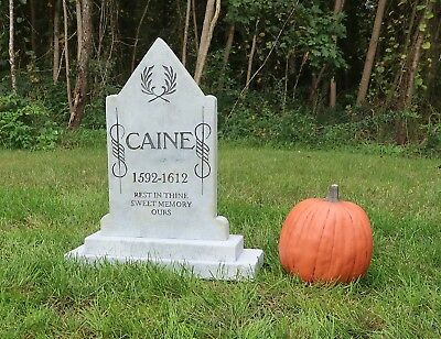 CAINE Halloween Tombstone Yard Prop Cemetery Graveyard Gravestone Judith - Tombstone Graveyard Halloween