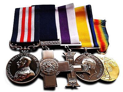 5 Full Size Replica WW1 WW2 Service/War Medals British/Imperial George Cross