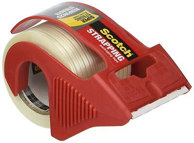 Scotch Reinforced Strength Shipping And Strapping Tape In Dispenser