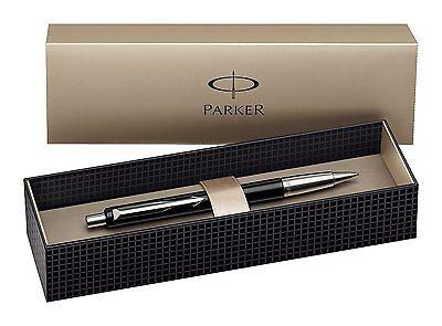 Parker Vector Standard Ballpoint Ball Pen Black Stainless Steel Presentation Box