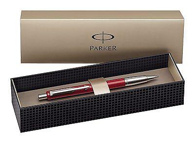 Parker Vector Standard Ballpoint Ball Pen Red Stainless Steel Gift Box