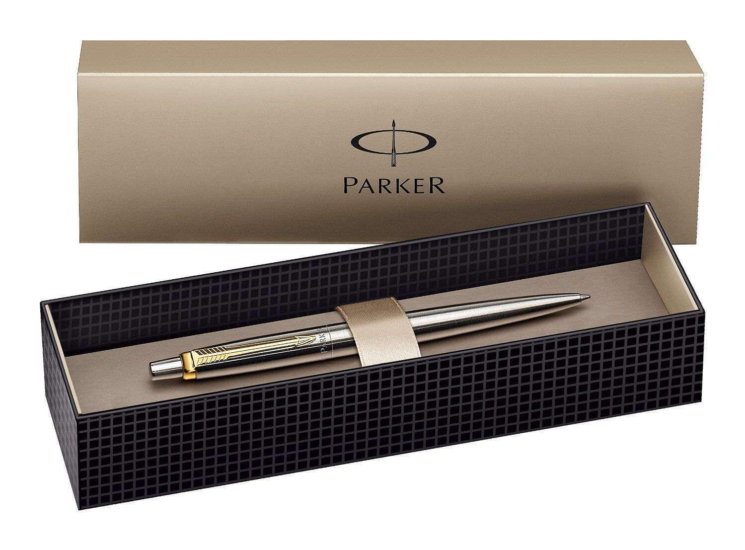 Parker Jotter Ball Pen Steel GT Gold Clip Black Blue ink With//Without Gift Box