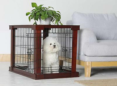 Dog Kennel Decorative Crate Cage End Table Wooden Cage Furniture Puppy Training